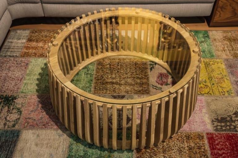 Konferenční stolek lamelový