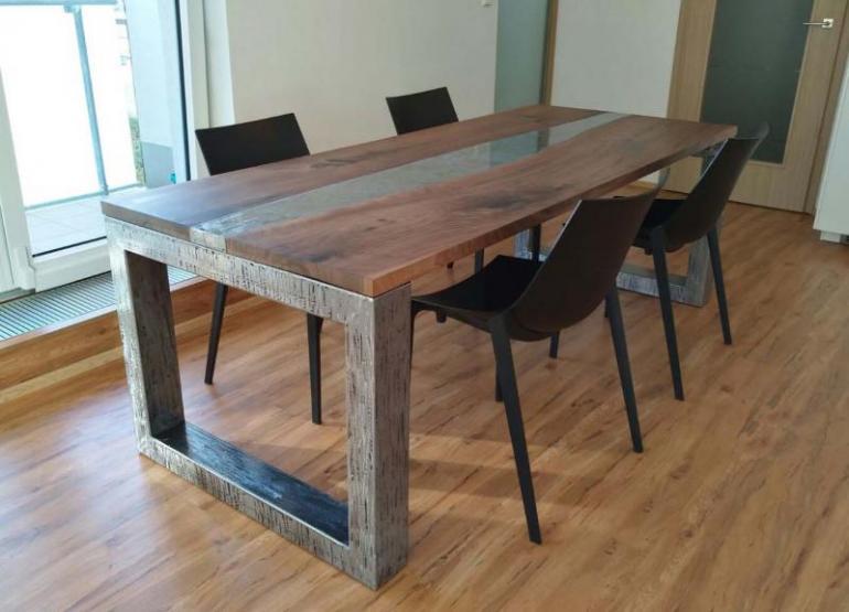 Stůl industrial walnut