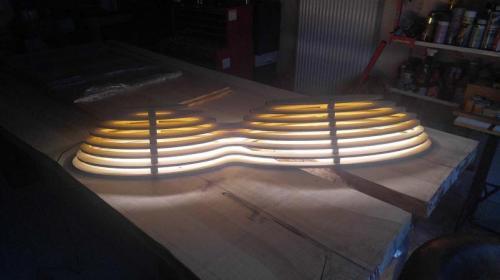 Závěsný lustr, LED